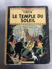 TINTIN LE TEMPLE DU SOLEIL HERGÉ EO 1949 SORTIE DU GRENIER LIVRE ANCIEN BD TOP