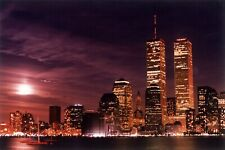 NEW YORK CITY: WTC TWIN TOWERS AT NIGHT  8 X 10 PHOTO- 009