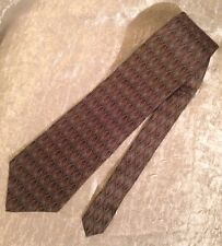 Stafford Mens Neck Tie 100% Silk Made in USA Muted Colors Geometric Pattern