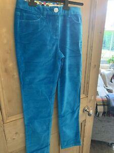Boden Ladies Trousers New Velvet Feel Size Uk 10r Deep Turquoise