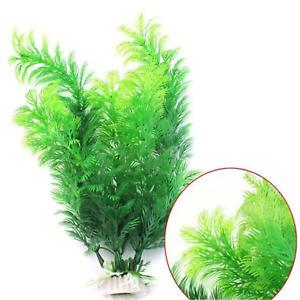 Lovely Green Plants Artificial Home Fish Tank Aquarium Decorations Accessories