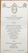 Menu: French 1936 Wedding w/Wine List, Pommard 1939 - Hotel Francoise 1st