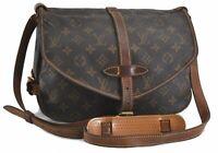 Auth Louis Vuitton Monogram Saumur 30 Shoulder Cross Body Bag M42256 LV B7364