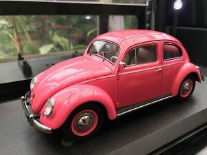 AUTOart Millennium Volkswagen Beetle 1200 Limousine (1955) Pink Lady 1:18 Boxed.