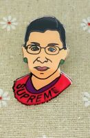 Supreme Court Justice Ruth Bader Ginsburg Fashion Jewelry Pin Brooch