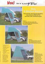 Easy Top Dachzelt Prospekt 2003 brochure Autoprospekt Werbung Auto PKWs