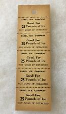 Wisconsin WI Prairie Du Chien ZABEL ICE COMPANY Coupons GOOD FOR 25 POUNDS ICE