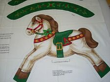 Christmas Rocking Horse Fabric Panel