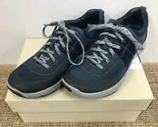 NIB Clarks 25119 Women's Wave Andes Navy Nubuck Trainers