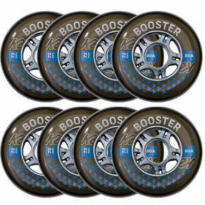 K2 Booster Inline Skates Ersatzrollen Rollen 8er Pack Skate Wheels + Kugellager