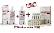 Foltene Hair & Scalp Treatment WOMEN 8,3mlx12 +Shampoo 2x200ml-STRONG MADE ITALY