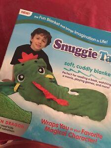 Snuggie Tails Soft Cuddly Velveteen Blanket Green Dragon Nib