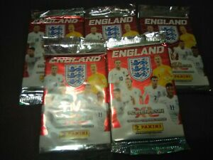 5 Packs Of Panini England Adrenalyn XL Trading Cards