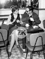 ANNE WIAZEMSKY Jean-Luc GODARD BAR Café PARIS Ricard Photo 1969