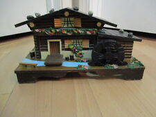 Vintage Wooden Wood Music Box Alps House Cabin Large House