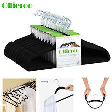 Non-Slip Flocked Velvet Huggable Hangers Clothes Hangers Suit/Shirt/Pants Bulk