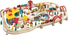 Wooden Train Play Set, 145-Piece Kids Toy New Children Play Best Build Make
