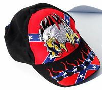 American Bald Eagle Flag Hot Leathers Biker Ball Cap/Hat