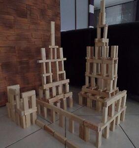 Bausteine Holzbausteine Bauklötze Naturholz gesund NEU TOP Angebot!!! 200 Stück