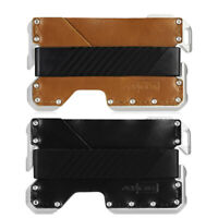 EDC Men's Military Tactical Multi Tool CNC Metal Leather Wallet- Up to 12 Card