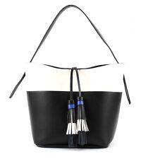 ESPRIT Olimpia Hobo Tasche Schultertasche Handtasche Black Schwarz Weiß Damen