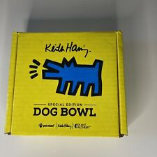 New listing Pet Releaf Keith Haring The Barking Dog Collection Dog Bowl - Yellow