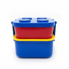 Oxford 2 Layers Blue Combined Stackable Bento Lunch Box Food Container with Fork