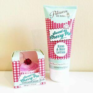 Patisserie De Bain Cherry Hand Lotion Cherry Cupcake Bath Bomb Fizz