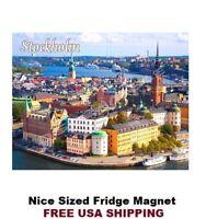 583 - Stockholm Sweden Travel Poster Refrigerator Fridge Magnet