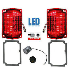 68 69 Chevy El Camino LED Tail Turn Signal Light Lenses w/ Gaskets & Flasher Set