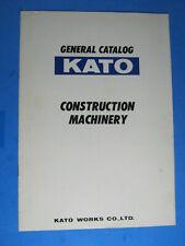 KATO GENERAL CONSTRUCTION MACHINERY ORIGINAL SALES BROCHURE