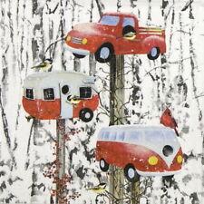 4x Tovaglioli di carta per Decoupage CRAFT, Festa-Barb tourtillotte: Retrò Birdhouse