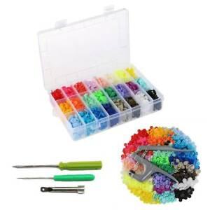 KAM Snaps 360pcs T5 Plastic Buttons Stubs Fastener Snap Pliers 24 Colours