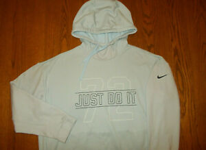 NIKE JUST DO IT LIGHT BLUE HOODED SWEATSHIRT WOMENS 2XL EXCELLENT CONDITION