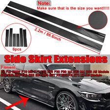 Carbon Fiber Side Skirt Rocker Panel For BMW F30 F80 M3 F82 M4 320i 325i E90