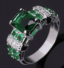 Anniversary Jewelry Size 7 Wedding Emerald 10KT Gold Filled Rare Ring For Ladies