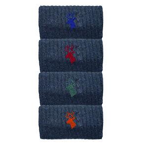 Mens Socks 4 Pack Casual Thermal Winter Cushioned Foot Socks Premium Size 6-11
