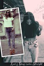 """Demi Curve LEVI'S Elástico Tiro Bajo Mujer Jeans Rectos Talla W26 L34 Reino Unido 8 34""""leg"""