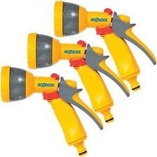 3 x Hozelock Multi Pattern Spray Gun Nozzle for Garden Hose Pipes, Flow Control