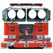 FIRE ENGINE STAND-IN CARDBOARD CUTOUT Standup Standee Standin Child-Size F/S