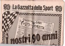 rivista LA GAZZETTA DELLO SPORT 03/04/1986 numero 1 I NOSTRI 90 ANNI