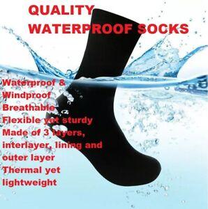 NEW Quality MEN'S/LADIES Waterproof, Windproof, Breathable Socks BACK IN STOCK