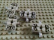 LEGO Lot of 4 Light Bluish Gray 2x4 Double Inverted Slope Pieces with Side Pins