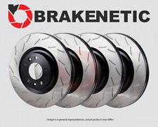 BRAKENETIC SPORT Drilled Slotted Brake Disc Rotors BSR74403 FRONT + REAR