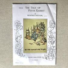 Vtg 1993 Anchor Peter Rabbit Beatrix Potter Counted Cross Stitch Kit New