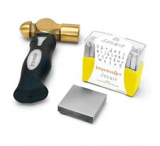 4mm ImpressArt Jeanie Lowercase Stamp Kit With Hammer And Steel Block