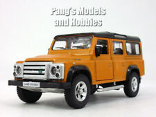 5 inch Land Rover Defender Station Wagon Scale Diecast Metal Model - Orange