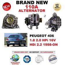 FOR PEUGEOT 406 1.8 2.0 HPi 16V HDi 2.2 1998-ON 110A ALTERNATOR BRAND NEW BOXED