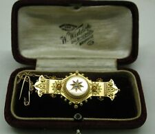 Stordimento Edwardian 15Ct oro e diamante ORNATA CIONDOLO SPILLA IN SCATOLA ORIGINALE