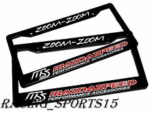 x2 MAZDASPEED Racing License Plate Frame For MAZDA 3 6 CX-5 MX5 MIATA RX7 RX8